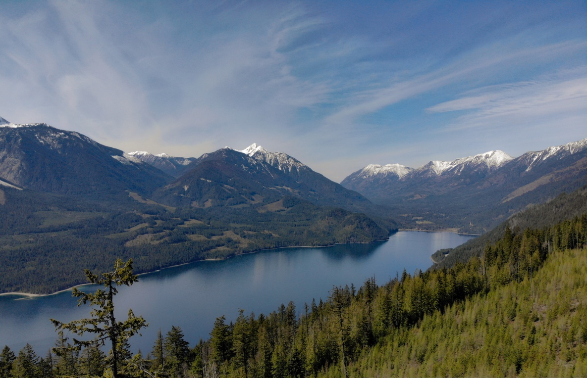 Butter Trail in Rosebery BC, with views of Valhalla Provincial Park and Slocan Lake